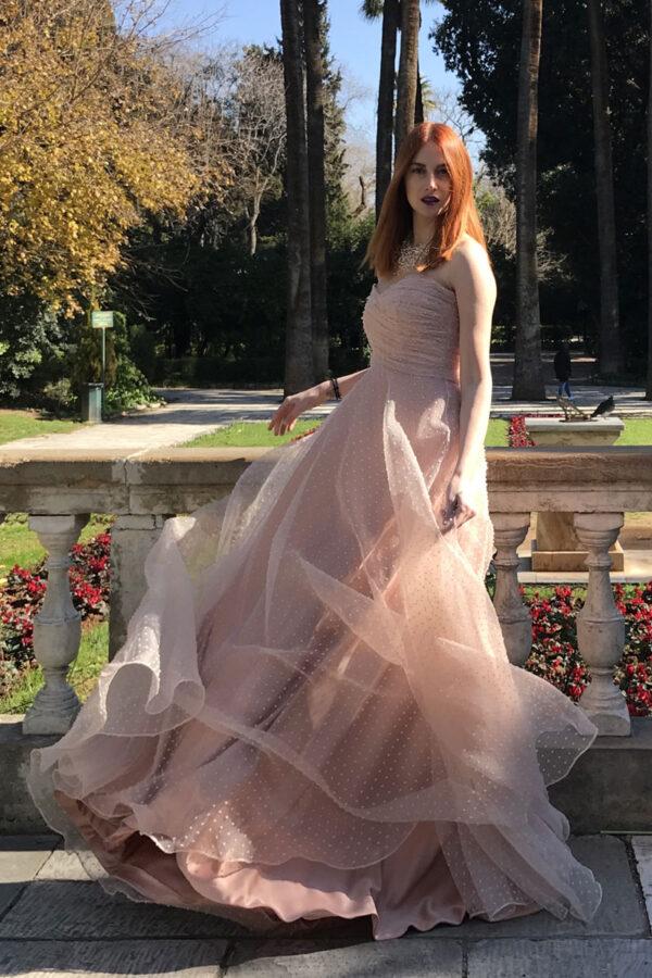 Φόρεμα maxi οργάντζα