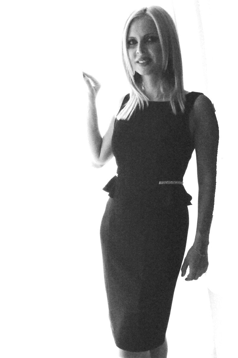 Φόρεμα κρεπ pencil