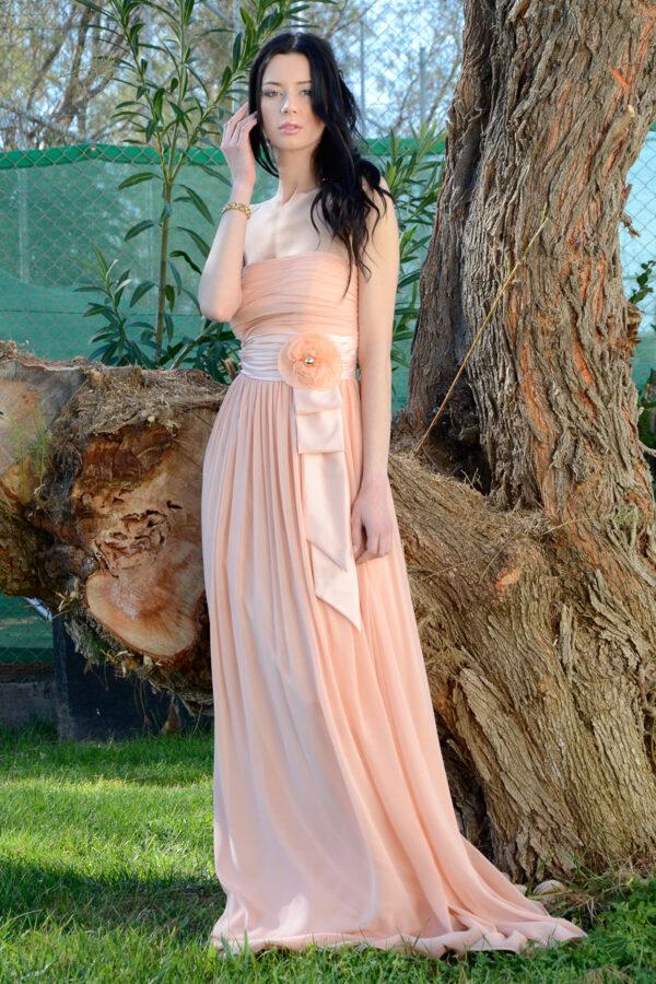 Μάξι φόρεμα μουσελίνα