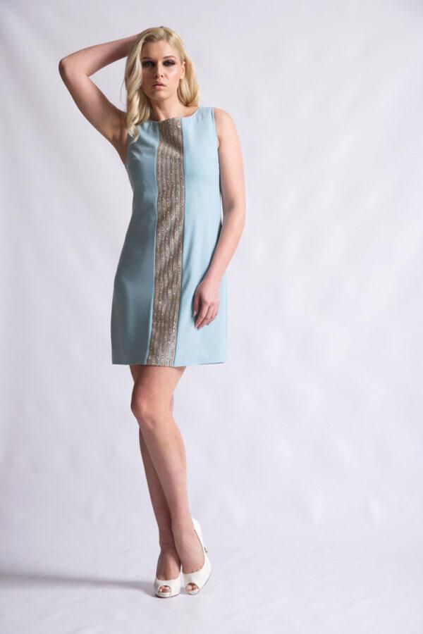 φόρεμα κρέπ Α γραμμή