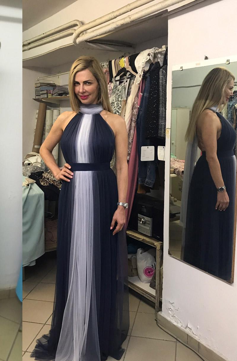 φόρεμα ντεγκραντέ τούλι