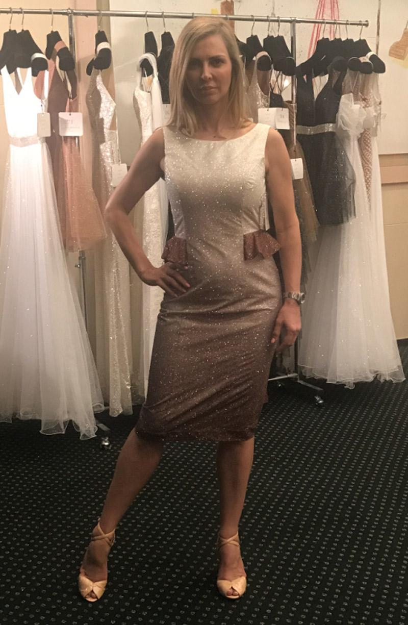 φόρεμα ντεγκραντέ glitter