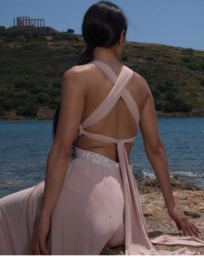 φόρεμα χιαστή πλάτη