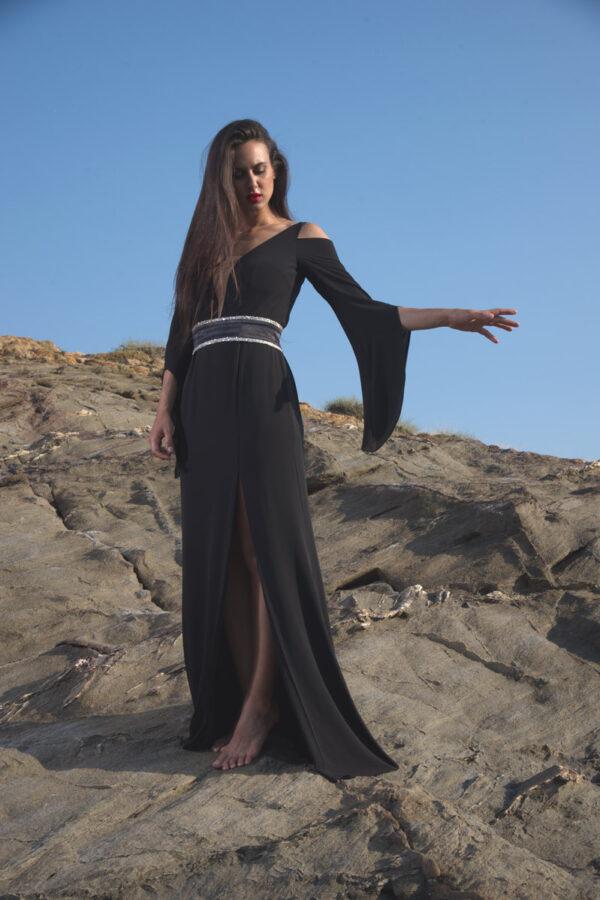 φόρεμα maxi μανίκια