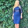 φόρεμα δαντέλα μπούστο