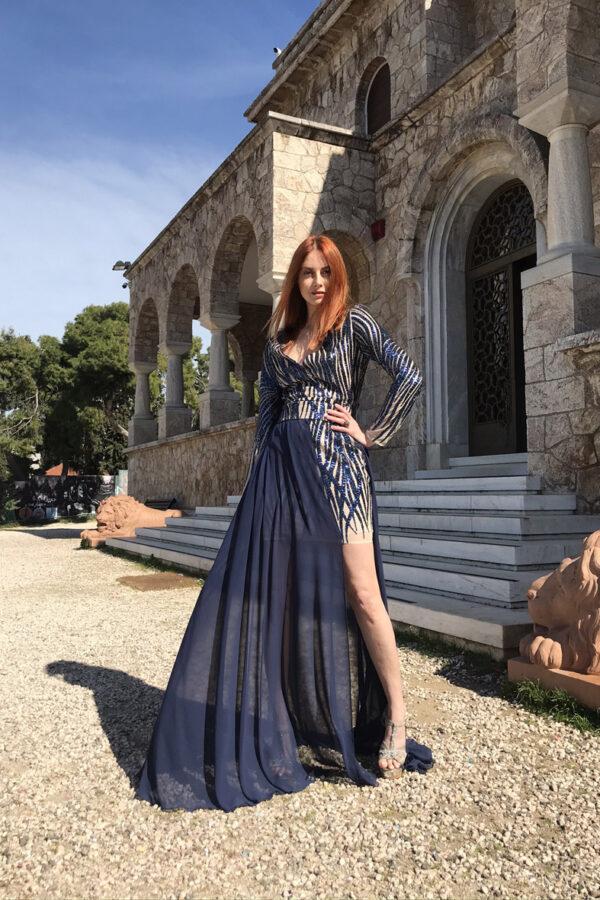 φόρεμα δαντέλα κ΄ φούστα extra