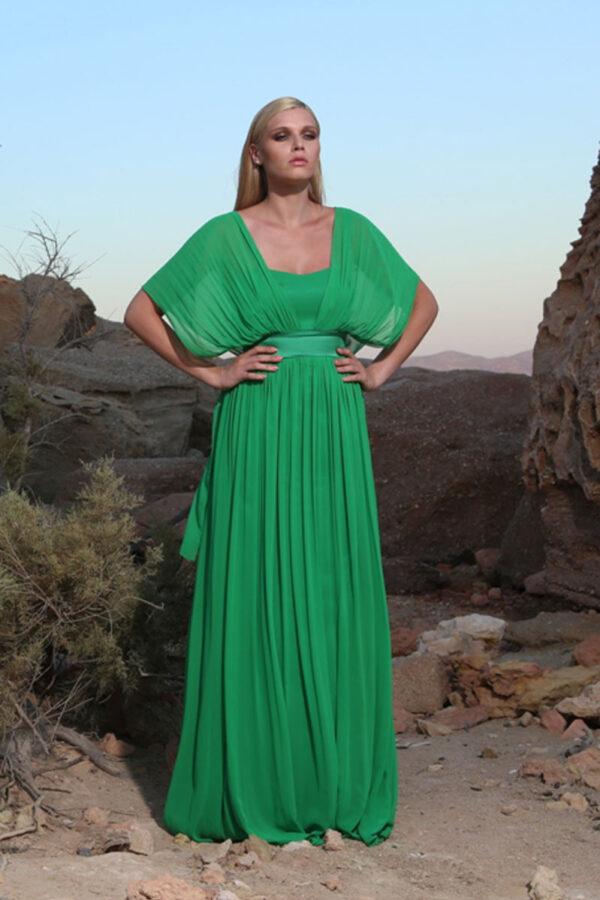 Φόρεμα maxi μουσελίνα - strapless πολυμορφικό.