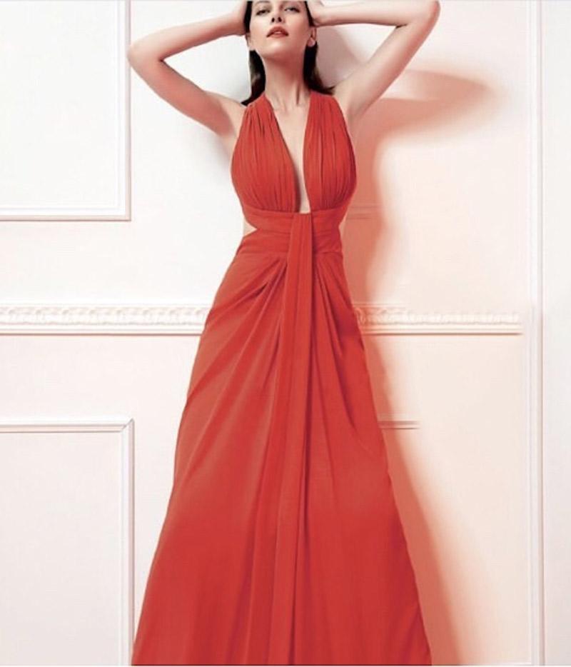 φόρεμα μουσελίνα χιαστή πλατη
