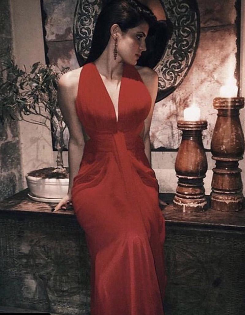 φορεμα μουσελινα χιαστη πλατη