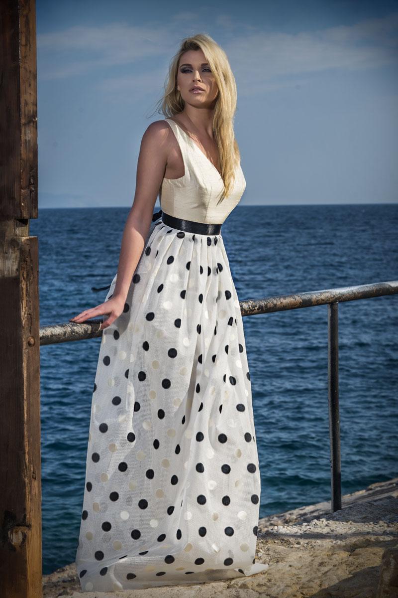Φόρεμα maxi μπούστο σαντούκ
