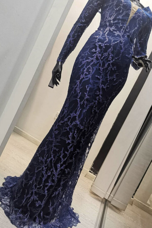 φόρεμα δαντέλα maxi