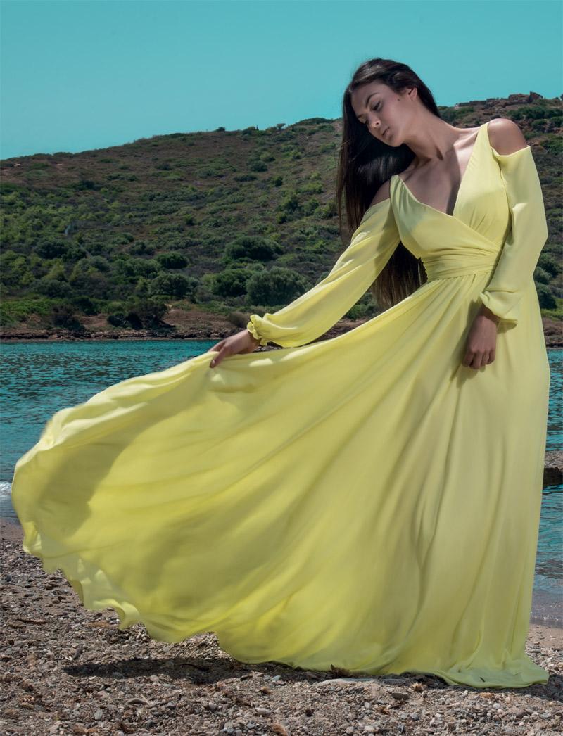 Φόρεμα κοκτέιλ maxi