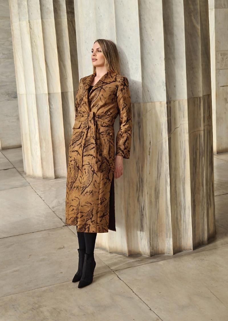 παλτό animal print