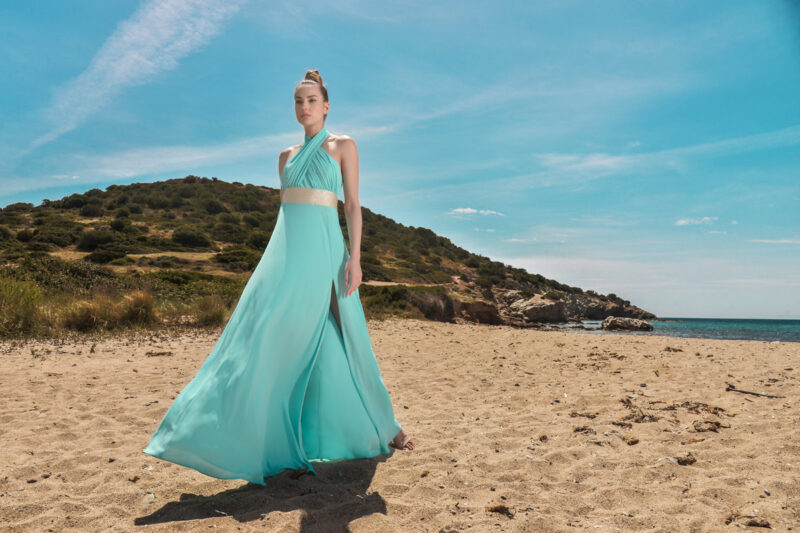 Φόρεμα maxi μουσελίνα