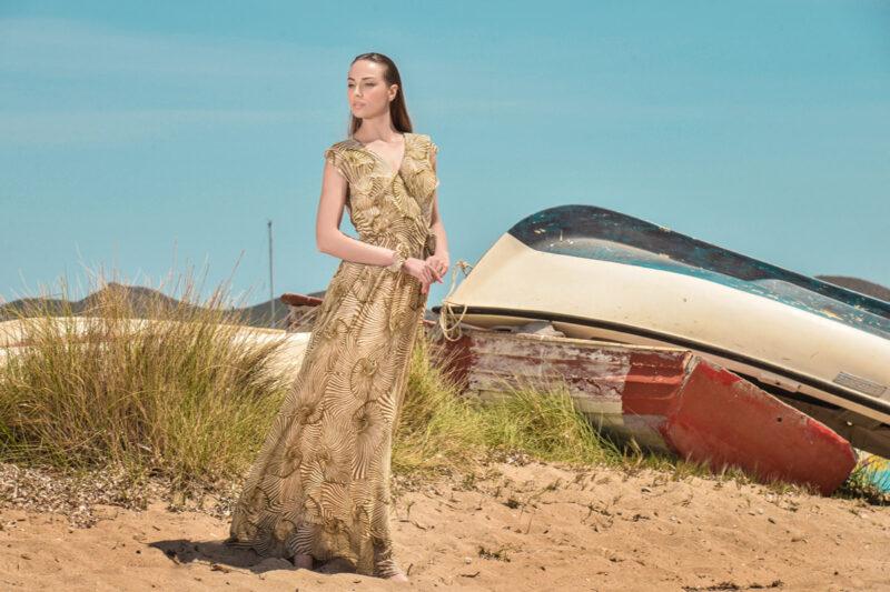 Φόρεμα maxi κρουαζέ